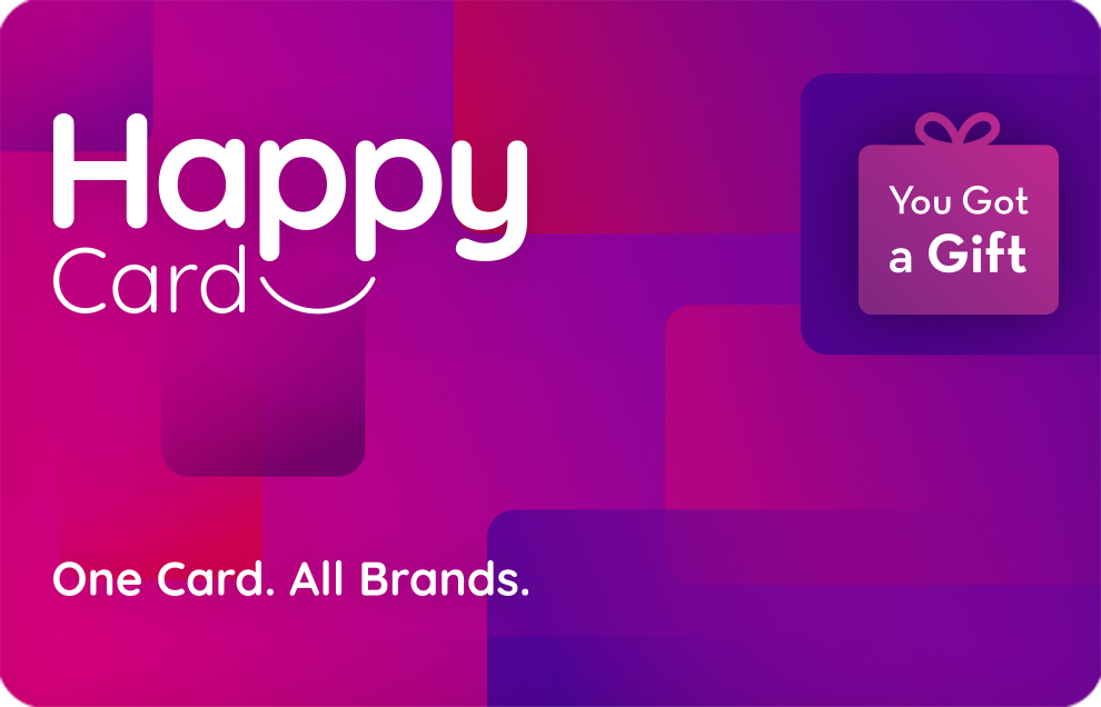 Happy Card. One Card. All Brands
